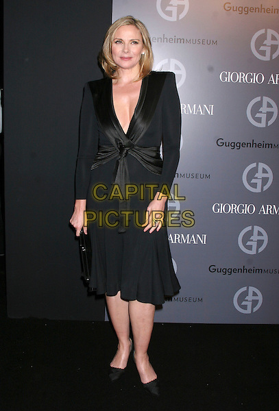 KIM CATTRELL.at the Soloman R. Guggenheim Museum's Young Collectors Council 2006 Artist's Ball Sponsored by Giorgio Armani at the Guggenheim museum, New York, NY, USA, .14  December 2006..full length black dress.CAP/IW.©Ian Wilson/Capital Pictures