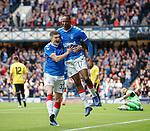 18.07.2019: Rangers v St Joseph's: Joe Aribo scores for Rangers and celebrates with Jake Hastie