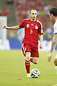 Andres Iniesta (ESP), JUNE 18, 2014 - Football / Soccer : FIFA World Cup Brazil<br /> match between Spain and Chile at the Maracana Stadium in Rio de Janeiro, Brazil. (Photo by AFLO)