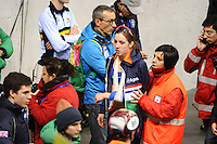 SHORT TRACK: TORINO: 14-01-2017, Palavela, ISU European Short Track Speed Skating Championships, Semifinals Relay, Suzanne Schulting (NED) gets injured after a fall, ©photo Martin de Jong