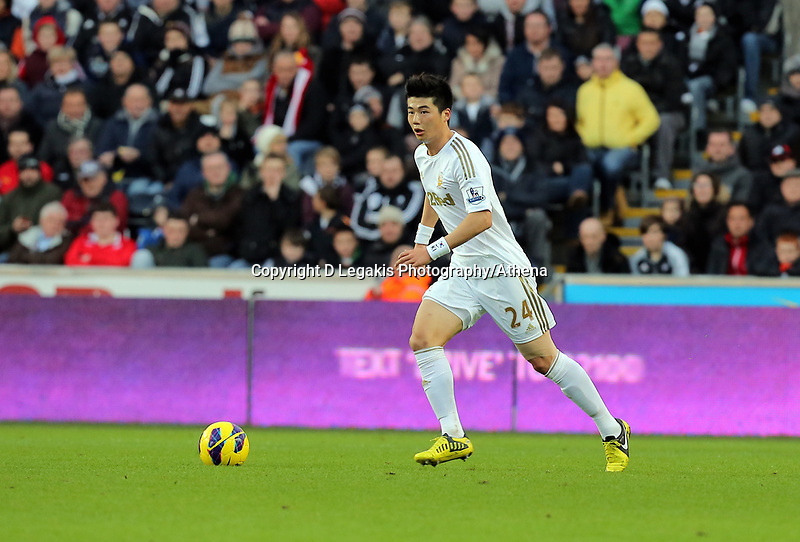 Saturday, 08 December 2012<br /> Pictured: Ki Sung Yueng of Swansea<br /> Re: Barclays Premier League, Swansea City FC v Norwich City at the Liberty Stadium, south Wales.