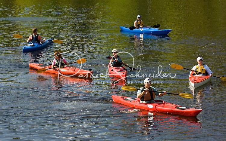 A group of paddlers set out in Amelia Island, FL