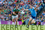 Stephen O'Brien, Kerry in action against Brian Fenton, Dublin during the GAA Football All-Ireland Senior Championship Final match between Kerry and Dublin at Croke Park in Dublin on Sunday.