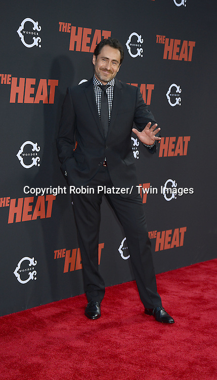 "Demian Bichir attends the New York Premiere of ""The Heat"" on June 23,2013 at the Ziegfeld Theatre in New York City. The movie stars Sandra Bullock, Melissa McCarthy, Demian Bichir, Marlon Wayans, Joey McIntyre, Jessica Chaffin, Jamie Denbo, Nate Corddry, Steve Bannos, Spoken Reasons and Adam Ray."