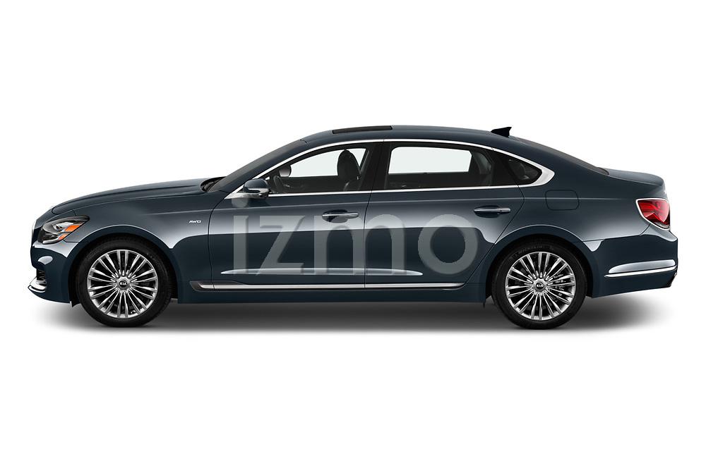 Car Driver side profile view of a 2019 KIA K900 Luxury 4 Door Sedan Side View