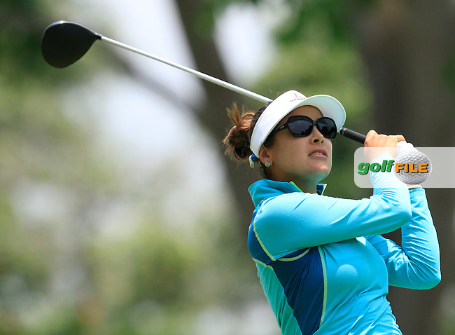 Mariajo Uribe (COL) on the 9th tee during Round 2 of the HSBC Women's Champions at the Sentosa Golf Club, The Serapong Course in Singapore on Friday 6th March 2015.<br /> Picture:  Thos Caffrey / www.golffile.ie