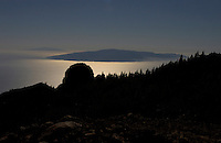 Canary Islands silhouetted at dusk, taken from Tenerife.