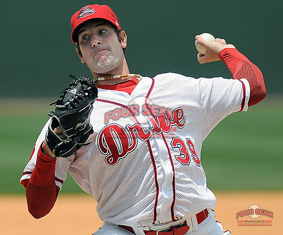 May 18, 2009: Mitch Herold of the Greenville Drive, Class A affiliate of the Boston Red Sox, in a game against the Rome Braves at Fluor Field at the West End in Greenville, S.C. Photo by: Tom Priddy/Four Seam Images