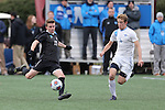 SALEM, VA - DECEMBER 3:Jacob Waterson (17) of Calvin College and Zach Halliday (6) of Tufts University battle for the ball during theDivision III Men's Soccer Championship held at Kerr Stadium on December 3, 2016 in Salem, Virginia. Tufts defeated Calvin 1-0 for the national title. (Photo by Kelsey Grant/NCAA Photos)
