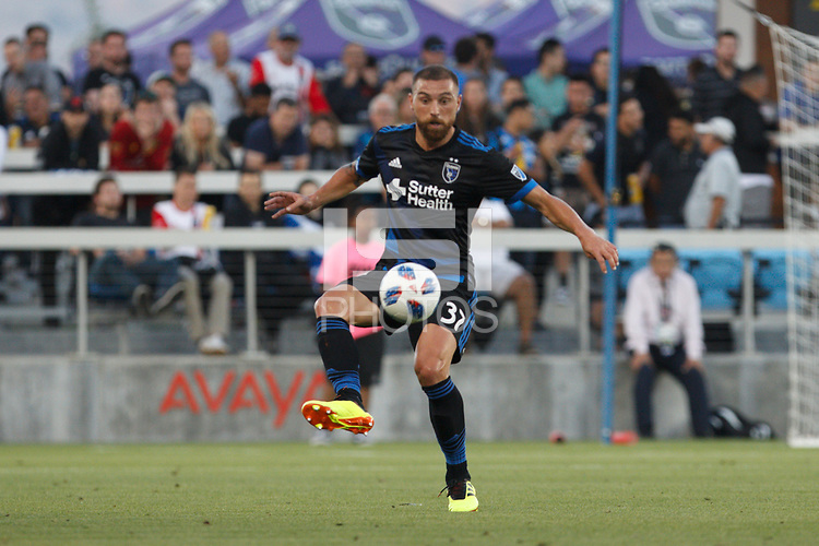 San Jose, CA - Saturday July 28, 2018: Guram Kashia during a Major League Soccer (MLS) match between the San Jose Earthquakes and Real Salt Lake at Avaya Stadium.