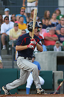 Peter Hissey #10 of the Salem Red Sox at bat during a game against the Myrtle Beach Pelicans on May 15, 2010 in Myrtle Beach, SC.