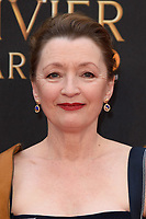 Lesley Manville arriving for the Olivier Awards 2018 at the Royal Albert Hall, London, UK. <br /> 08 April  2018<br /> Picture: Steve Vas/Featureflash/SilverHub 0208 004 5359 sales@silverhubmedia.com