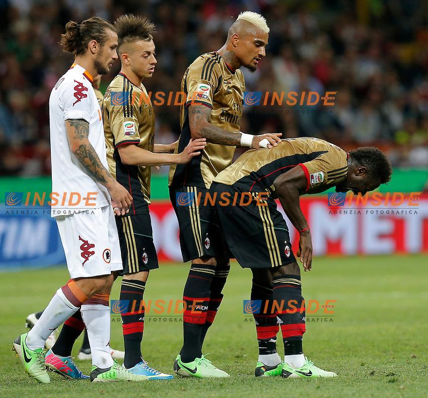 "Espulsione Sulley Muntari Milan, Milano 12/5/2013 .Stadio ""S.Siro"".Football Calcio 2012/2013 Serie A.Milan Vs Roma.Foto Marco Bertorello Insidefoto"