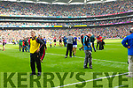 Kerry players after being defeated by Mayo in the All Ireland Semi Final Replay in Croke Park on Saturday.