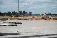 NWA Democrat-Gazette/ANTHONY REYES &bull; @NWATONYR<br /> Work continues on infrastructure Wednesday, Aug. 12, 2015 at C.L. &ldquo;Charlie&rdquo; and Willie George Park  in Springdale. The park had its groundbreaking a year ago. The park will have a splash pad, dog park tennis courts, ball fields, soccer fields, pavilions, a trail and a football field.