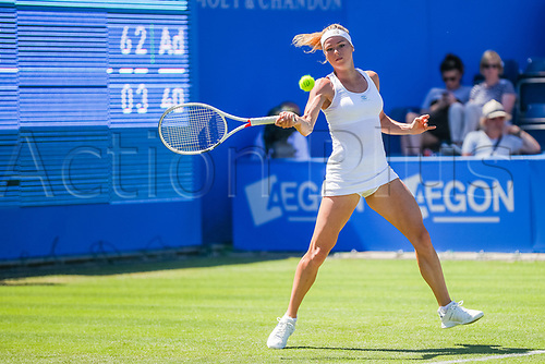 June 18th 2017, Edgbaston Priory Club; Tennis Tournament; Aegon Classic Birmingham; Sunday Qualifiers; Camila Giorgi during qualification as she beats Grace Min