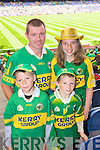 Cormac, Eoghan, Seamus and Mairead Landers Ballyferriter Supporting Kerry at Croke park on Sunday.