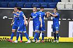 Torjubel nach dem 2-0 um Torschuetze Christoph Baumgartner (Hoffenheim).<br /> <br /> Sport: Fussball: 1. Bundesliga: Saison 19/20: 28. Spieltag: TSG 1899 Hoffenheim - 1. FC Koeln, 27.05.2020<br /> <br /> Foto: Markus Gilliar/GES/POOL/PIX-Sportfotos.<br /> <br /> Nur für journalistische Zwecke! Only for editorial use!<br /> <br /> Gemäß den Vorgaben der DFL Deutsche Fußball Liga ist es untersagt, in dem Stadion und/oder vom Spiel angefertigte Fotoaufnahmen in Form von Sequenzbildern und/oder videoähnlichen Fotostrecken zu verwerten bzw. verwerten zu lassen. DFL regulations prohibit any use of photographs as image sequences and/or quasi-video.