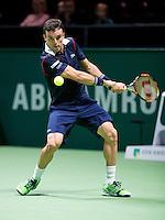 Februari 09, 2015, Netherlands, Rotterdam, Ahoy, ABN AMRO World Tennis Tournament, Roberto Bautista (AUT)<br /> Photo: Tennisimages/Henk Koster