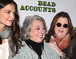 Katie Holmes, Jayne Houdyshell, Playwright Theresa Rebeck attending the Meet & Greet the cast of the new Broadway Play 'Dead Accounts' on October 12, 2012 in New York City.
