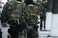 Civil army of Donbas seen on the streets of Slavyansk