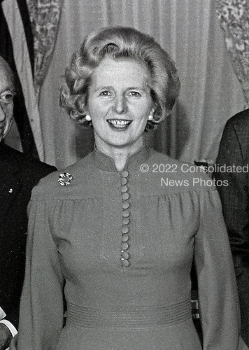 Newly elected British Conservative Party Leader Margaret Thatcher attends a luncheon in her honor hosted by the United States Senate Foreign Relations Committee in the United States Capitol in Washington, D.C. on Thursday, September 18, 1975.  Mrs. Thatcher is the first woman elected Conservative Party leader.<br /> Credit: Benjamin E. &quot;Gene&quot; Forte - CNP