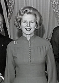 "Newly elected British Conservative Party Leader Margaret Thatcher attends a luncheon in her honor hosted by the United States Senate Foreign Relations Committee in the United States Capitol in Washington, D.C. on Thursday, September 18, 1975.  Mrs. Thatcher is the first woman elected Conservative Party leader.<br /> Credit: Benjamin E. ""Gene"" Forte - CNP"