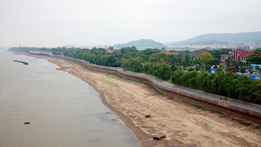 View Of Juzhou Island, Changsha, From The Bridge.  Residence Of The Commissioner Of Customs Right, With The Newer Building Far Right Possibly On The Site Of HBM Consul's Residence.