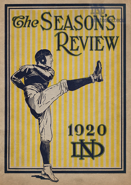 PATH:  Scholastic Football Review Cover, 1920..Image from the University of Notre Dame Archives.