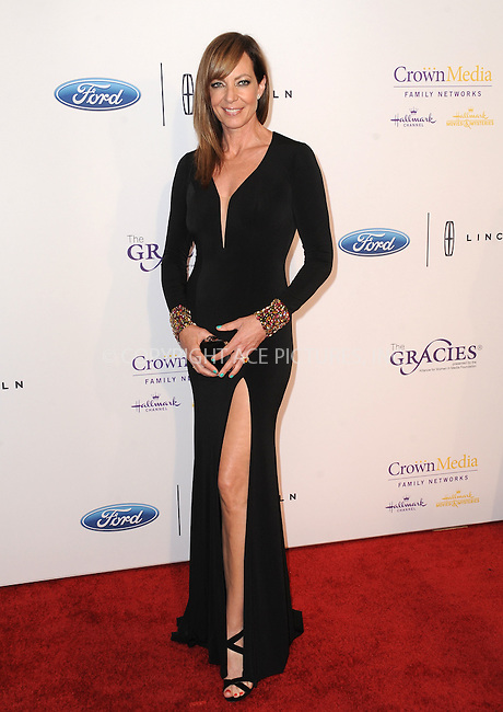 WWW.ACEPIXS.COM<br /> <br /> May 24 2016, LA<br /> <br /> Allison Janney arriving at the 41st Annual Gracie Awards at the Regent Beverly Wilshire Hotel on May 24, 2016 in Beverly Hills, California.<br /> <br /> By Line: Peter West/ACE Pictures<br /> <br /> <br /> ACE Pictures, Inc.<br /> tel: 646 769 0430<br /> Email: info@acepixs.com<br /> www.acepixs.com