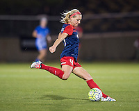 Boyds, MD - April 16, 2016: Washington Spirit defender Megan Oyster (4). The Washington Spirit defeated the Boston Breakers 1-0 during their National Women's Soccer League (NWSL) match at the Maryland SoccerPlex.