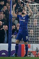 Olivier Giroud celebrates scoring Chelsea's opening goal during Chelsea vs Malmo FF, UEFA Europa League Football at Stamford Bridge on 21st February 2019