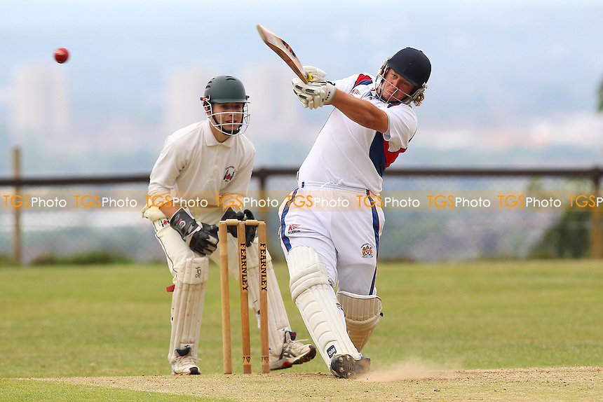 Paul Humphries in batting action for Hornchurch Athletic - Havering-Atte-Bower CC vs Hornchurch Athletic CC - Mid-Essex League Cricket - 14/06/14 - MANDATORY CREDIT: Gavin Ellis/TGSPHOTO - Self billing applies where appropriate - 0845 094 6026 - contact@tgsphoto.co.uk - NO UNPAID USE