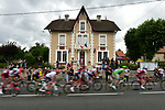 The peloton flash by during Stage 10 of the 104th edition of the Tour de France 2017, running 178km from Perigueux to Bergerac, France. 11th July 2017.<br /> Picture: ASO/Pauline Ballet | Cyclefile<br /> <br /> <br /> All photos usage must carry mandatory copyright credit (&copy; Cyclefile | ASO/Pauline Ballet)