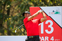 Pablo Larrazabal (ESP) in action on the 13th during Round 4 of the Hero Indian Open at the DLF Golf and Country Club on Sunday 11th March 2018.<br /> Picture:  Thos Caffrey / www.golffile.ie<br /> <br /> All photo usage must carry mandatory copyright credit (&copy; Golffile | Thos Caffrey)