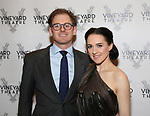 Jonathan Stein and Lena Hall attends the Vineyard Theatre Gala 2018 honoring Michael Mayer at the Edison Ballroom on May 14, 2018 in New York City.