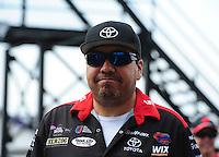 Apr. 29, 2012; Baytown, TX, USA: NHRA funny car driver Cruz Pedregon during the Spring Nationals at Royal Purple Raceway. Mandatory Credit: Mark J. Rebilas-