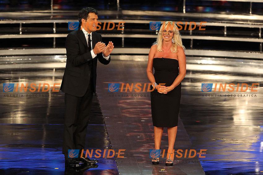 Antonella Clerici e Fabrizio Frizzi..Montecatini Terme 09/09/2012..Finali nazionali Miss Italia 2012..Foto Insidefoto Paolo Nucci..