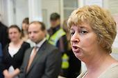 Karen Buck MP speaks at the opening of new neighbourhood offices in Church Street, Paddington, London.