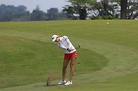 Nelly Korda (USA) in action on the 18th during Round 3 of the HSBC Womens Champions 2018 at Sentosa Golf Club on the Saturday 3rd March 2018.<br /> Picture:  Thos Caffrey / www.golffile.ie<br /> <br /> All photo usage must carry mandatory copyright credit (&copy; Golffile   Thos Caffrey)