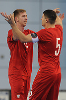 Bartlomiej Sitko of Poland celebrates with Robert Gladczak of Poland during England vs Poland, International Futsal Friendly at St George's Park on 2nd June 2018