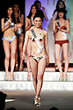 Miss Fukuoka, Keiko Fukushima, competes in the swimsuit category during the finals of Miss Universe Japan at Hotel Chinzanso Tokyo on March 1, 2016, Tokyo, Japan. Sari Nakazawa from Shiga captured the crown and will represent Japan in the next Miss Universe international competition. (Photo by Rodrigo Reyes Marin/AFLO)