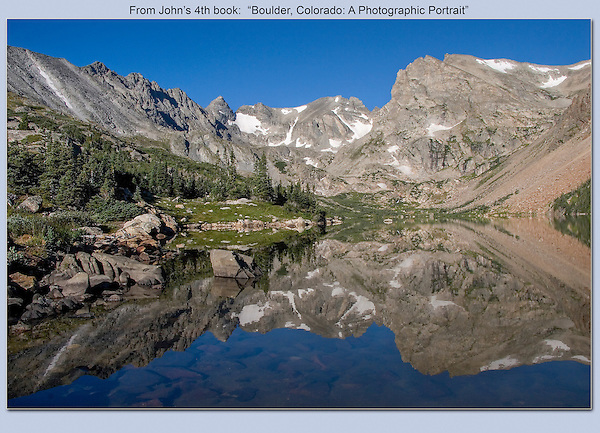 Isabelle Lake, an hours hike above Brainard Lake, Indian Peaks Wilderness. <br />