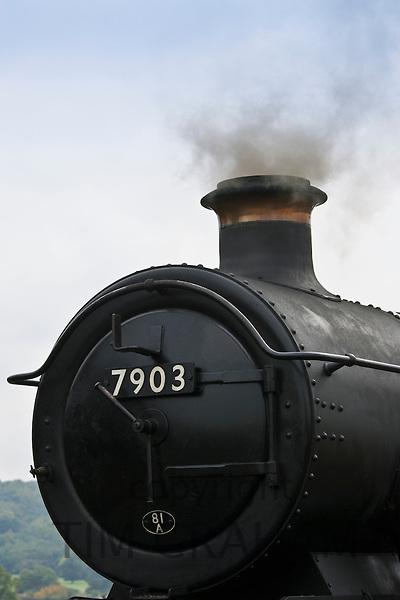 Steam engine at Toddington Railway Station in Gloucestershire, United Kingdom