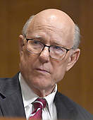 "United States Senator Pat Roberts (Republican of Kansas) listens during the US Senate Committee on Finance ""Hearing to Consider the Graham-Cassidy-Heller-Johnson Proposal"" on the repeal and replace of the Affordable Care Act (ACA) also known as ""ObamaCare"" in Washington, DC on Monday, September 25, 2017.<br /> Credit: Ron Sachs / CNP"