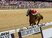 ELMONT, NY - JUNE 09: Abel Tasman  #6, ridden by Mike Smith, wins the Ogden Phipps Stakes on Belmont Stakes Day at Belmont Park on June 9, 2018 in Elmont, New York. (Photo by Bob Mayberger/Eclipse Sportswire/Getty Images)