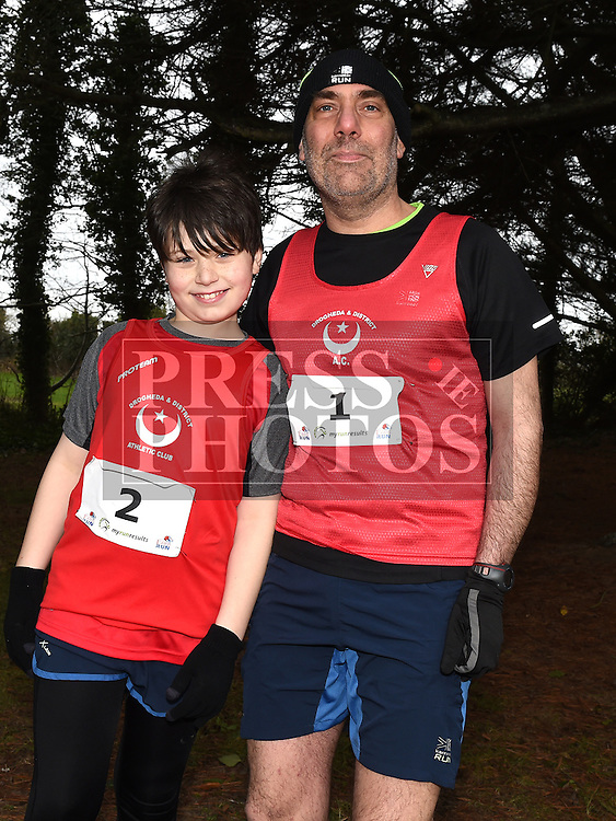 Paul and Joshua Barrell who took part in Erin's Run. Photo:Colin Bell/pressphotos.ie