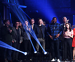 Kenneth Lonergan, Trip Cullman, Michael Cera, Chris Evans, Brian Tyree Henry and Bel Powley during the Second Stage Theater Broadway lights up the Hayes Theatre at the Hayes Theatre on February 5, 2018 in New York City.