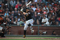 SAN FRANCISCO, CA - AUGUST 11:  Francisco Cervelli #29 of the Pittsburgh Pirates bats against the San Francisco Giants during the game at AT&T Park on Saturday, August 11, 2018 in San Francisco, California. (Photo by Brad Mangin)