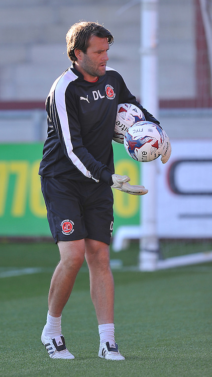 Fleetwood Town's goalkeeper coach David Lucas<br /> <br /> Photographer Dave Howarth/CameraSport<br /> <br /> Football - Capital One Cup First Round - Fleetwood Town v Hartlepool United - Tuesday 11th August 2015 - Highbury Stadium - Fleetwood<br />  <br /> &copy; CameraSport - 43 Linden Ave. Countesthorpe. Leicester. England. LE8 5PG - Tel: +44 (0) 116 277 4147 - admin@camerasport.com - www.camerasport.com
